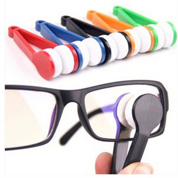 Portable Multifunctional Glasses/Sunglasses Cleaning Cloth Microfiber Wipe Eyeglass Cleaner = 1714292676