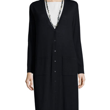 Ultrafine Merino Long Cardigan, Size: