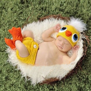 Newborn Baby Girls Boys Crochet Knit Costume Photo Photography Prop = 4457536196