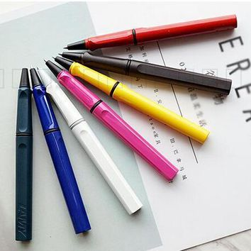 Lamy Safari Colorful Rollerball Pen office supplies stationery writing pens with retail gift box roller ball pen black red blue