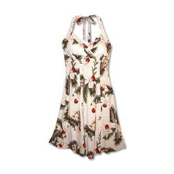 Moon White Napali Hawaiian Dress