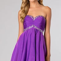 Alyce Short Strapless Homecoming Dress