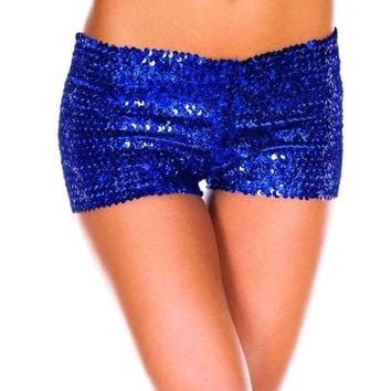 Hot Shorts Dance  Dancing Sexy Women Paille Crystal  Jeans Micro Mini Jean Ultra Rise Low Waist Clubwear Bling Free shippingAT_43_3