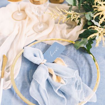 Dusty Blue Silk Napkins