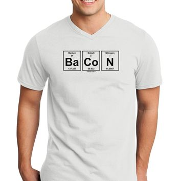 Bacon Periodic Table of Elements Adult V-Neck T-shirt by TooLoud