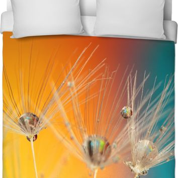 ROB Dandelion Yellow and Blue Duvet Cover