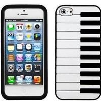 HELPYOU Black New Cute Piano Design Soft Silicone Rubber Skin Phone Cover Prortective Case For Apple iPhone 5C