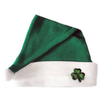 Unisex Baby Irish Shamrock Christmas Santa Hat