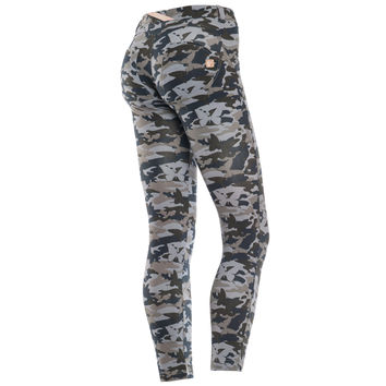 FREDDY WR.UP® BUTTERFLY CAMO 7/8 ANKLE SKINNY- Black Mix (LIMITED EDITION)