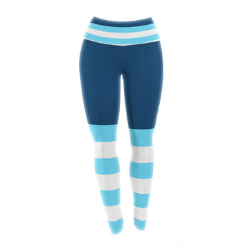 "Trebam ""Nauticki Blue"" Aqua Yoga Leggings"