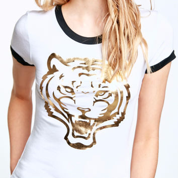TIGER GRAPHIC RINGER TEE
