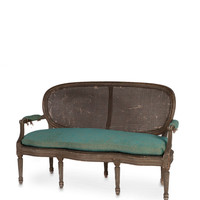 Caned Louis XVI Antique Loveseat - Gilt Home