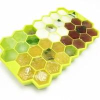 Silicone Honeycomb Bee Themed Ice Cube Tray