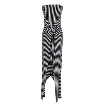 Fashion Strapless Stripe Dress For Women