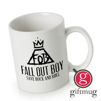Fall Out Boy, Save Rock And Roll Ceramic Coffee Mugs