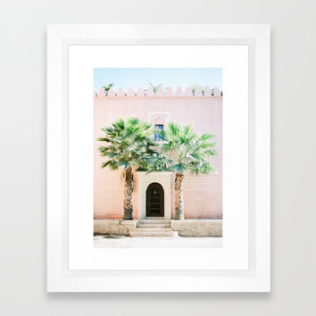 "Travel photography print ""Magical Marrakech"" photo art made in Morocco. Pastel colored. Framed Art Print by raisazwart"
