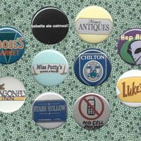 Gilmore Girls- inspired button pack