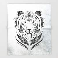 Tiger Plucked Throw Blanket by LouJah | Society6