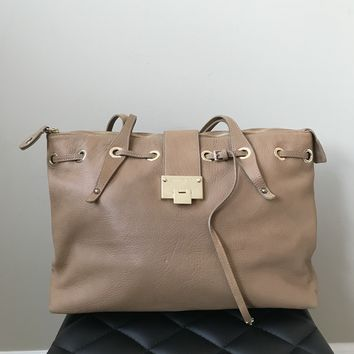 Jimmy Choo Tan Shoulder Bag