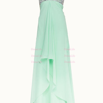 Sweetheart Prom Dresses/Long Prom Dress/Evening Dresses/Long Evening Gown/Bridesmaid Dress/Bridal Dress/Chiffon Dress/X189