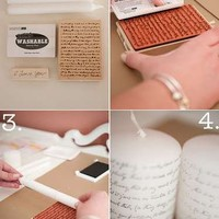 DIY - Amazing Creations to Make / DIY> Printed Candles