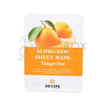 RE:CIPE Slowganic Sheet Mask (Tangerine)