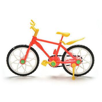 Great Creative Red Yellow Mountain Bike for Barbies Dolls HU
