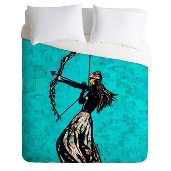 The Archer blue street art Duvet Cover