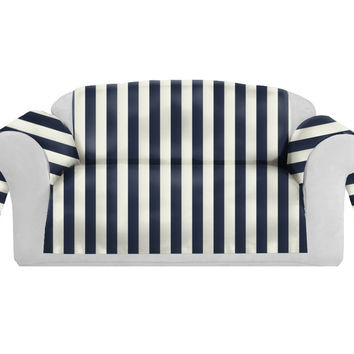 SatiSpring Decorative Sofa / Couch Covers Collection Navy-White.