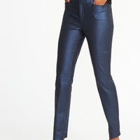 Mid-Rise Coated Pixie Ankle Pants for Women | Old Navy
