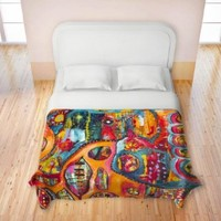 Duvet Cover Fleece Toddler, Twin, Queen, King from DiaNoche Designs by Michelle Fauss Home Decor and Bathroom Ideas Unique Designer Decorative - Abstract Elephant