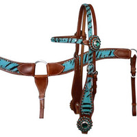 Saddles Tack Horse Supplies - ChickSaddlery.com Zebra Print Bridle/Breast Collar Set with Rhinestones