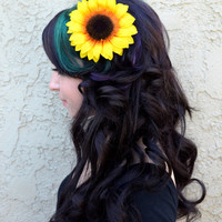 Sun Flower Hair Clip - Sunflower - Hair Accessories - Beach Party - Pool Party - Flower Girl - Bridal - Festivals
