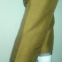 Ann Taylor Silk Pant Beaded Olive