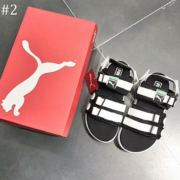 PUMA 2018 summer men and women with the same Velcro sandals and slippers F-AG-CLWM #2