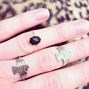 Ancient Egyptian onyx scarab beetle ring