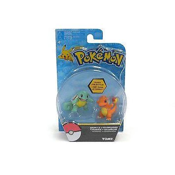 TOMY Pokemon Squirtle and Charmander 2-Pack Action Pose Figure Set Authentic USA