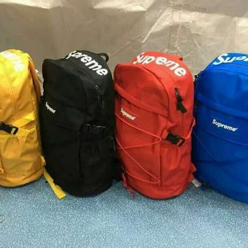 Hot Supreme Canvas Backpack College High School Bag Travel Bag