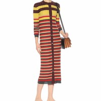 Striped wool cardigan dress