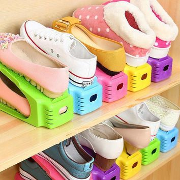 MDIGYN5 New Modern Double Shoe Racks Modern Double Cleaning Storage Shoes Rack Living Room Convenient Shoebox Shoe Organizer Stand Shelf