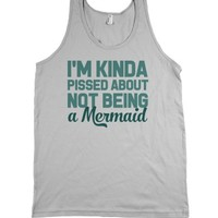 Not Being A Mermaid-Unisex Silver Tank