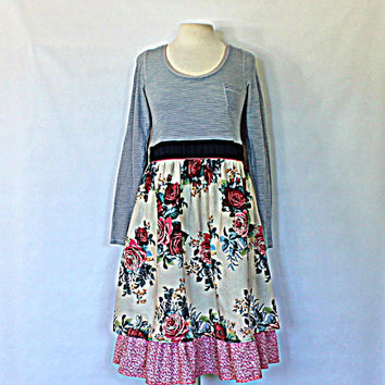 Upcycled Babydoll Dress | Women's Fashion | Clothing | Urban Chic Dress | Eco Altered Clothes