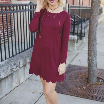 Burgundy Woods Dress