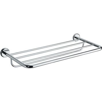 "BA Hotel Wall 25"" Towel Rack Bath Storage Shelf With Towel Bar - Brass"