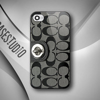 Coach Inspired Design On Plastic Case - iPhone 4 4S 5 , Samsung Galaxy S2 S3 Cover