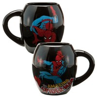 Vandor 26063 Spider Man Oval Ceramic Mug, Black, 18-Ounce