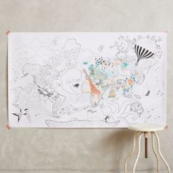 Let\'s Travel Coloring Mural by from Anthropologie