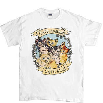 Cats Against Catcalls -- Unisex T-Shirt