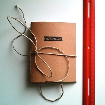 Handmade Mini Notebook - journal, staple bound, multipack