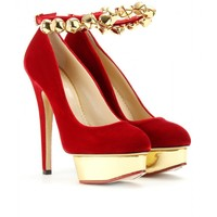 mytheresa.com -  Charlotte Olympia - JINGLE BELL DOLLY PLATFORM PUMPS - Luxury Fashion for Women / Designer clothing, shoes, bags